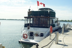 Toronto Boat Bed and Breakfast docked at HtO Park