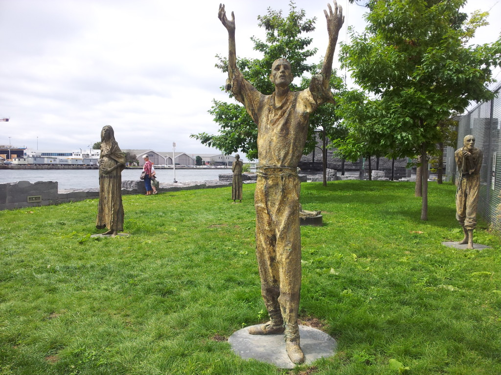 Statues in Ireland Park