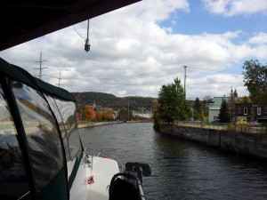 Crusing in the canal
