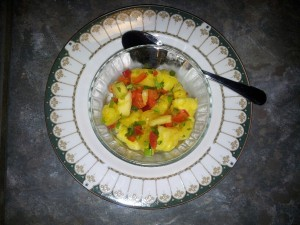 pineapple with red peppers recipe