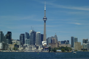 View of Toronto waterfront from Toronto Island