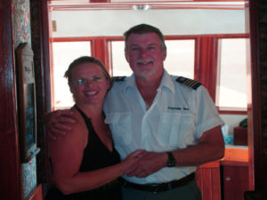 Boatel owners Diane and Ted Greene