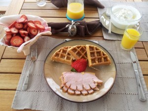 breakfast waffles and peameal bacon resized